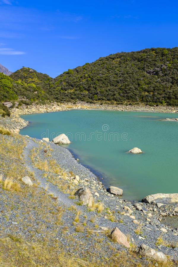 Взгляд высокогорного озера стоковое изображение