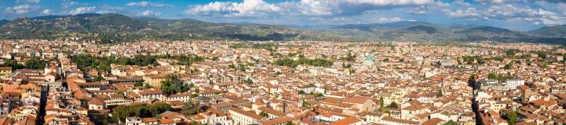 Взгляд высокого разрешения панорамный города Флоренса стоковые фото