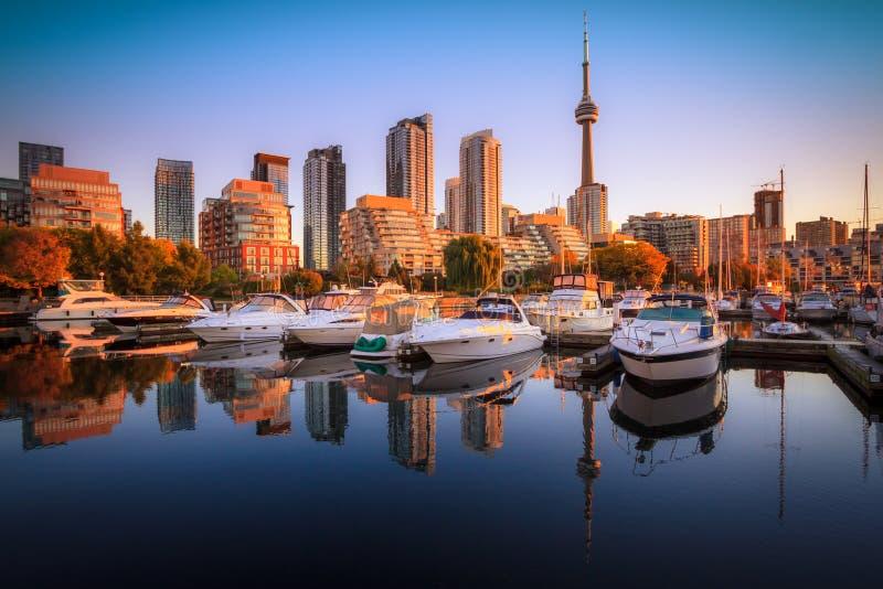 Взгляд гавани в яхт-клубе на Торонто стоковое фото