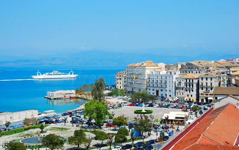 взгляд генералитета Греции corfu стоковые фотографии rf