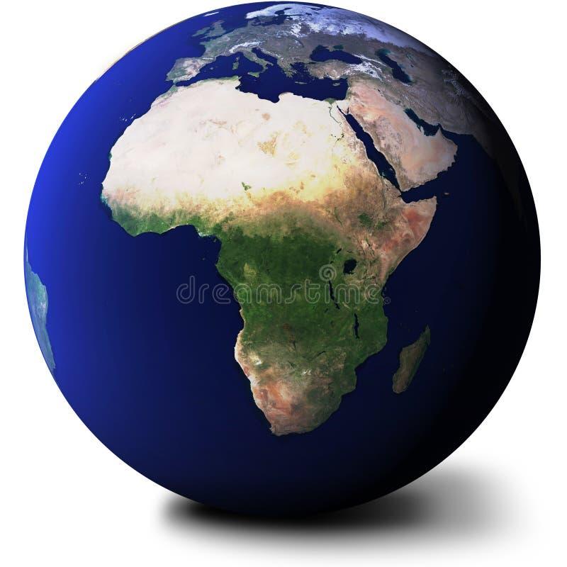 взгляд глобуса Африки
