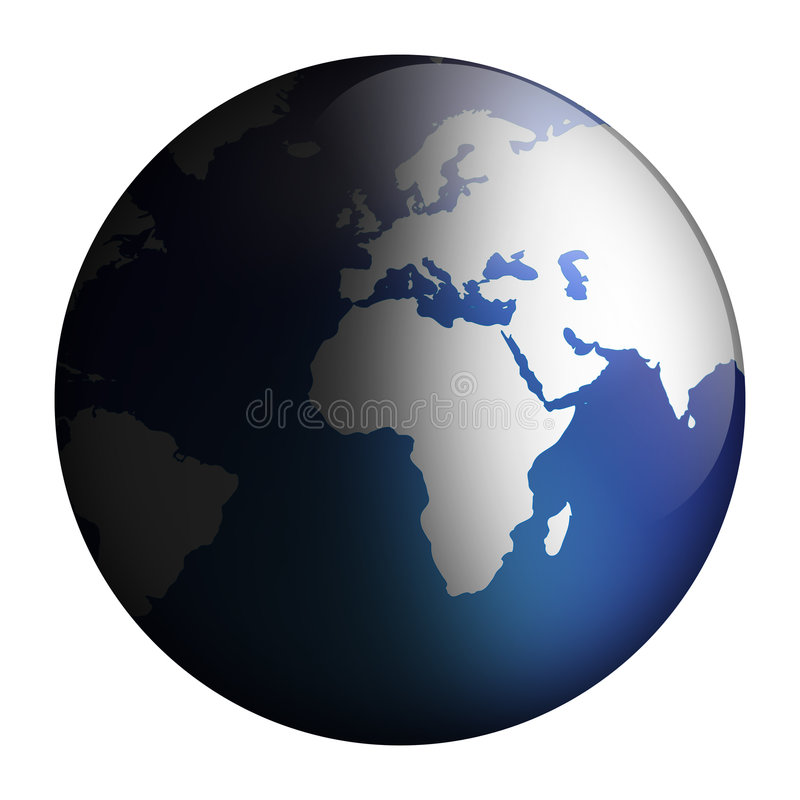 взгляд глобуса иллюстрация штока