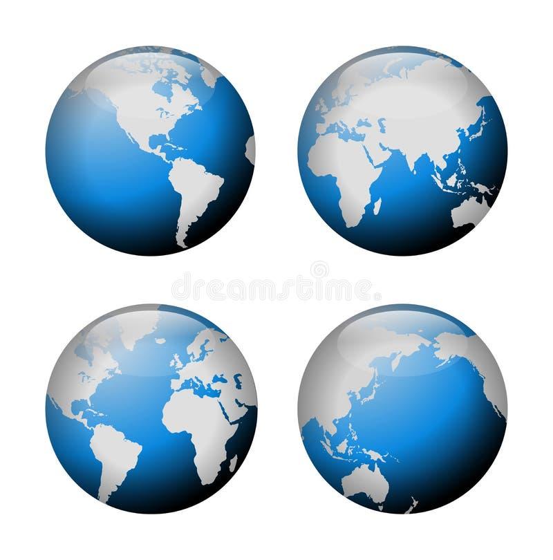 взгляд глобуса иллюстрация вектора