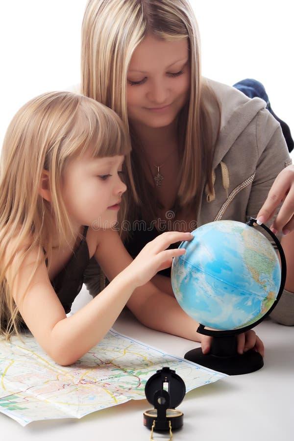 взгляд глобуса стоковая фотография