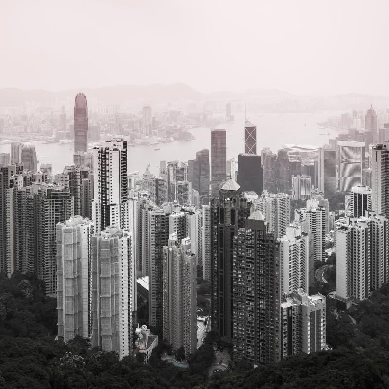 Взгляд Гонконга городской стоковое изображение rf