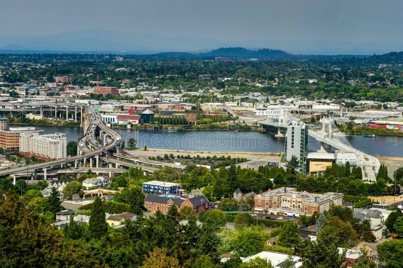 Взгляд горизонта города над Портлендом Орегоном Соединенными Штатами Америки стоковая фотография