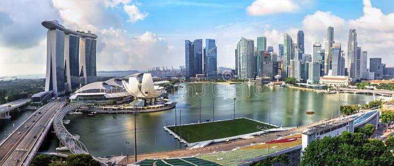 Взгляд горизонта города Сингапура стоковая фотография