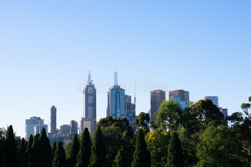 Взгляд горизонта Мельбурна стоковые изображения rf
