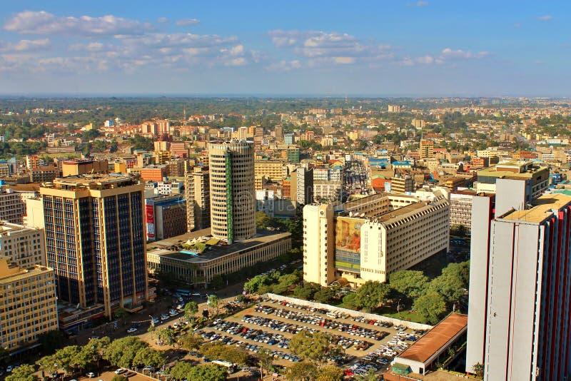 Взгляд горизонта Найроби города стоковое изображение