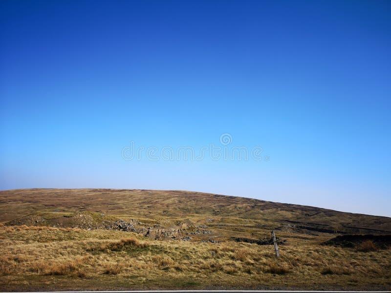 Взгляд горного склона Cumbria стоковые изображения rf
