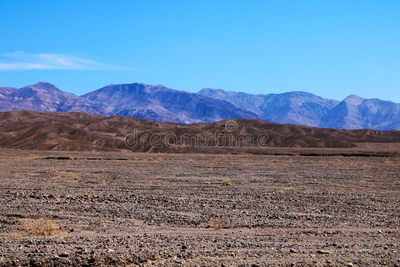 Взгляд горной цепи в национальном парке Death Valley в Калифорния стоковые фотографии rf