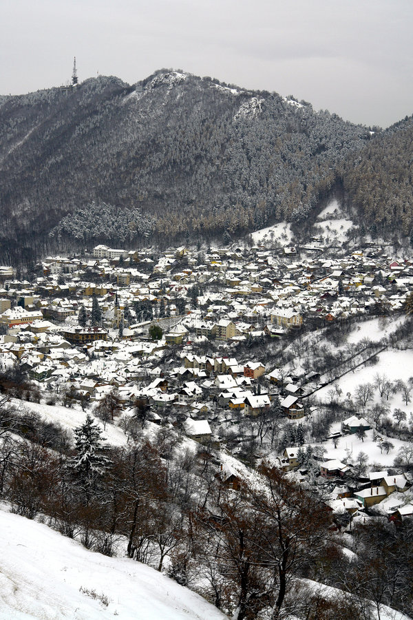 взгляд города общий стоковое изображение rf