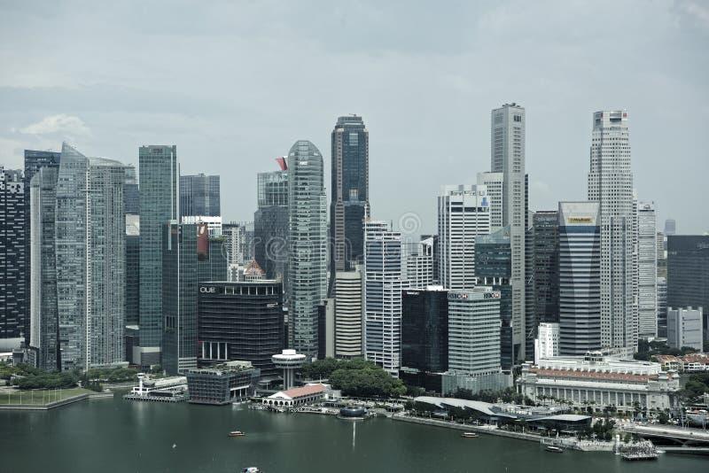 Взгляд города от рогульки Сингапура стоковое изображение