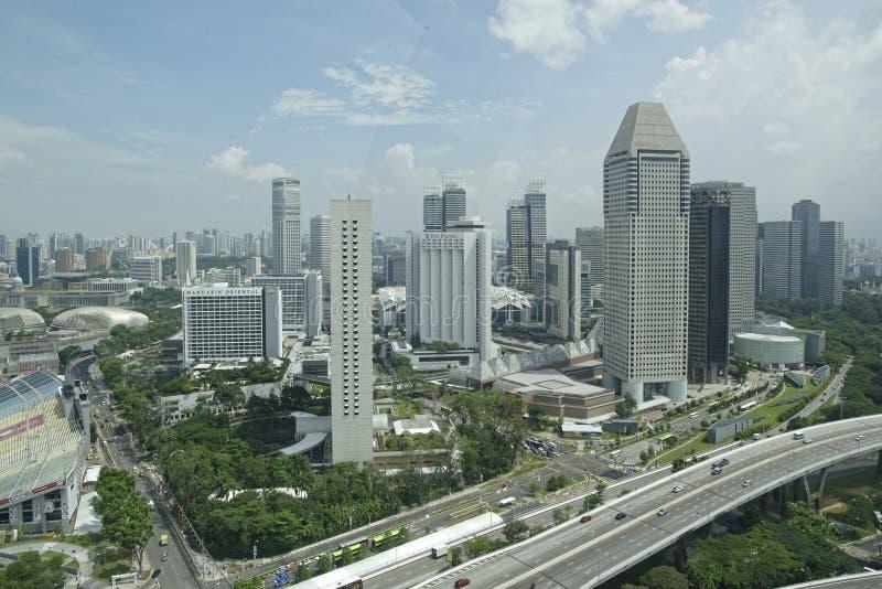 Взгляд города от рогульки Сингапура стоковые изображения