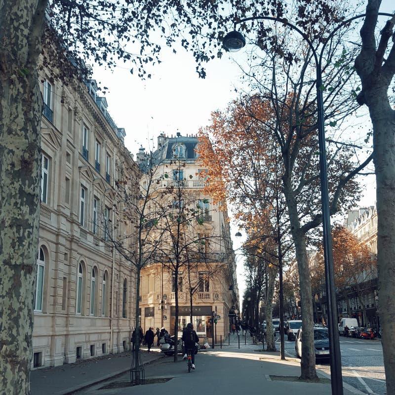 Взгляд города Парижа в осени, Франции стоковые фото