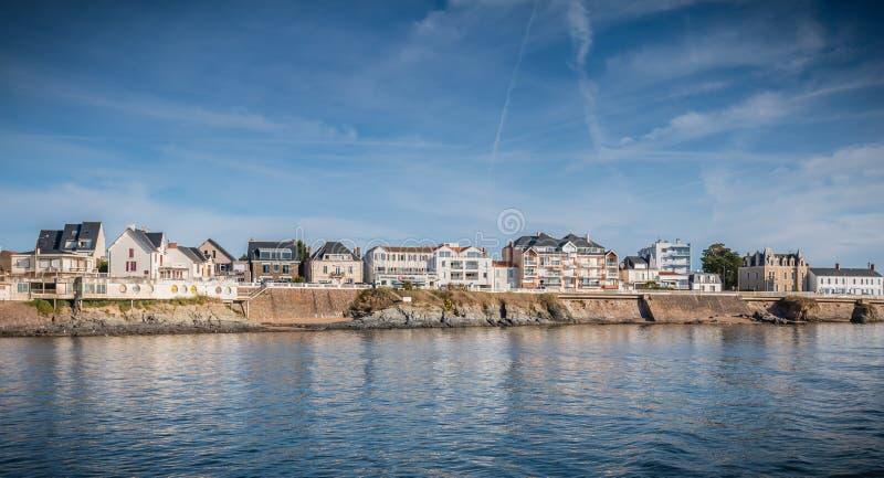 Взгляд города подпирает изнутри гавани стоковое изображение rf
