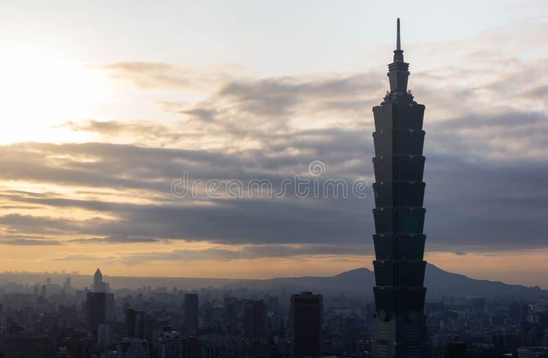 Взгляд города Тайбэя стоковое изображение rf