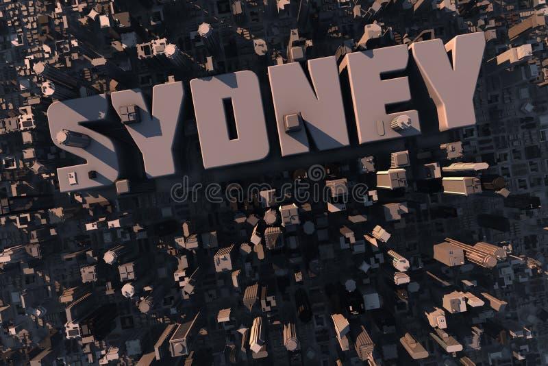взгляд города 3d верхний урбанский бесплатная иллюстрация