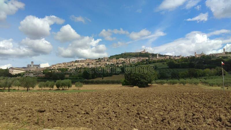 Взгляд города Assisi стоковые изображения