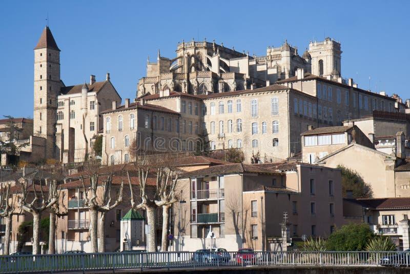 взгляд города auch высокий стоковое изображение rf