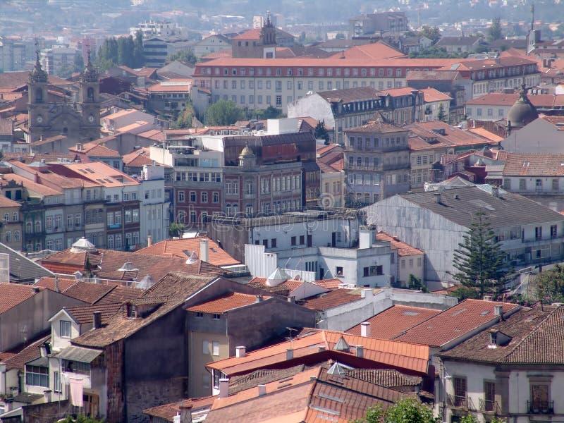 взгляд города braga стоковое изображение rf