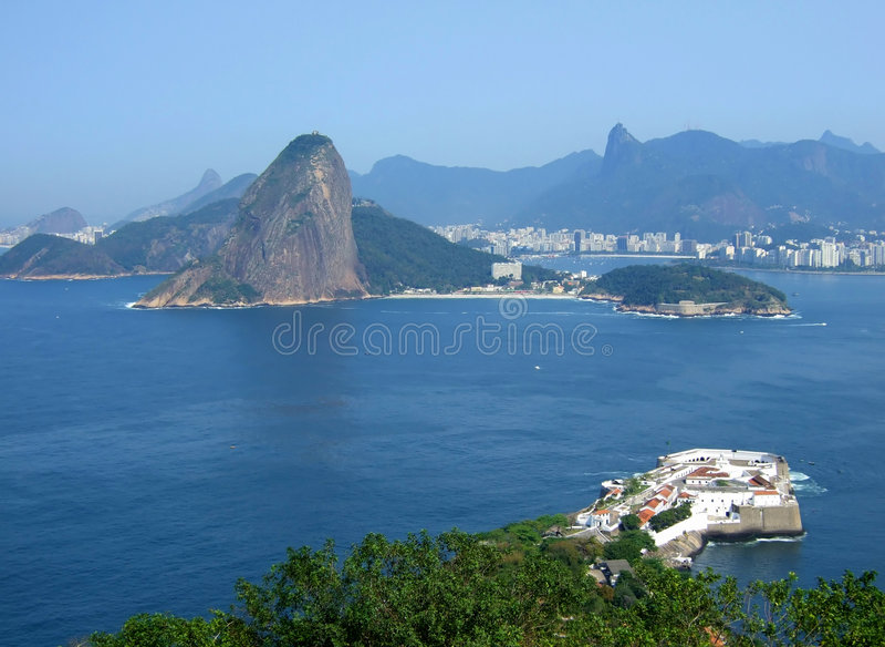 взгляд города de janeiro rio стоковое изображение