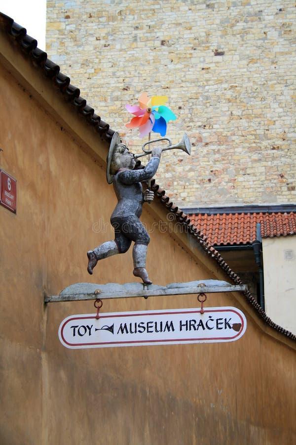 взгляд городка республики cesky чехословакского krumlov средневековый старый Прага Музей игрушки в Праге стоковая фотография