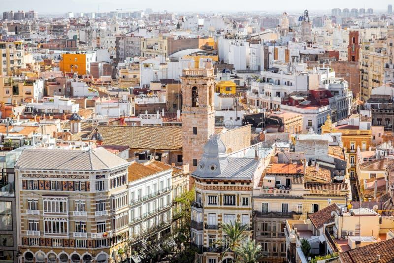 Взгляд городского пейзажа Валенсии стоковая фотография rf