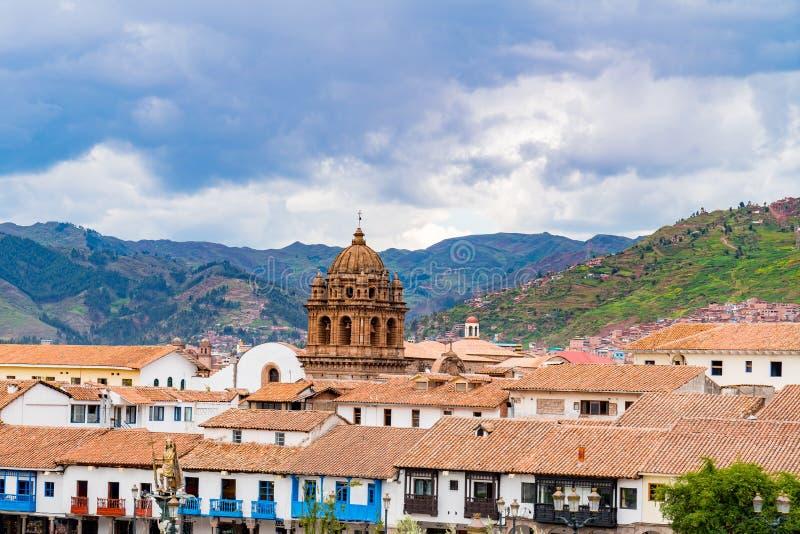 Взгляд городского пейзажа Cusco стоковые изображения