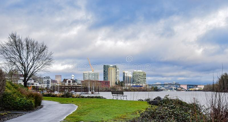 Взгляд городского Портленда стоковое фото