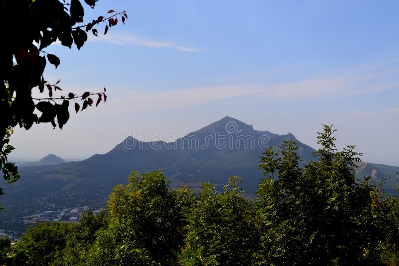 Взгляд горы Beshtau Pyatigorsk, Россия стоковое изображение