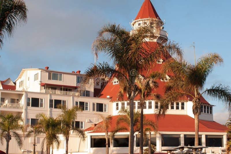 Взгляд Гостиницы del Coronado, Сан-Диего, США, Калифорнии стоковые фотографии rf