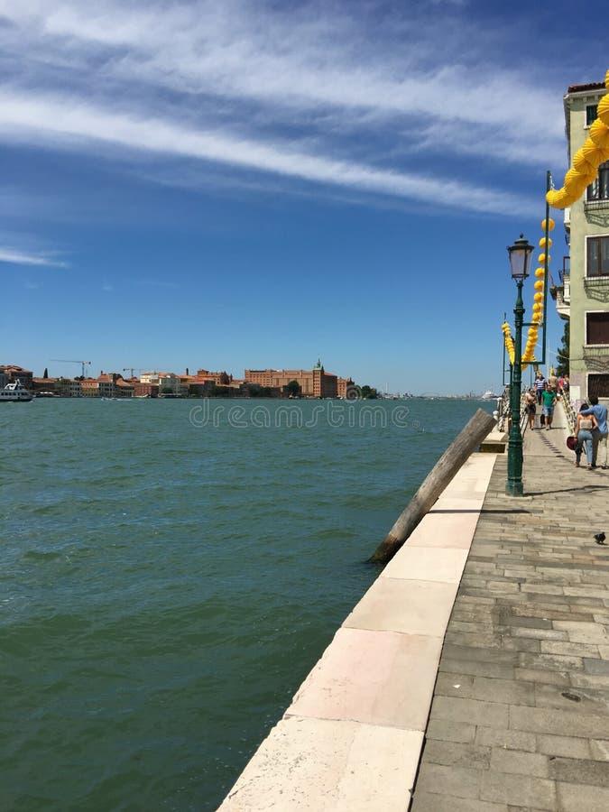 Взгляд грандиозного канала в Венеции, стоковая фотография