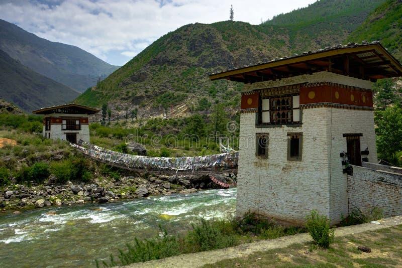 Взгляд деревни Бутана стоковые изображения rf