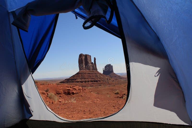 взгляд долины шатра памятника стоковое фото