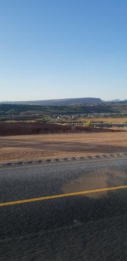 Взгляд дороги гор Юты стоковые фотографии rf