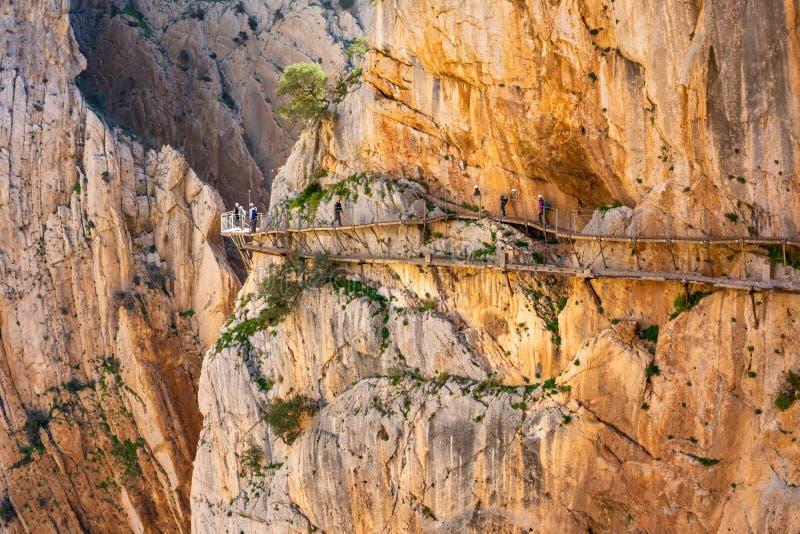 Взгляд достопримечательности Малага El Caminito del Rey, Испании стоковая фотография rf
