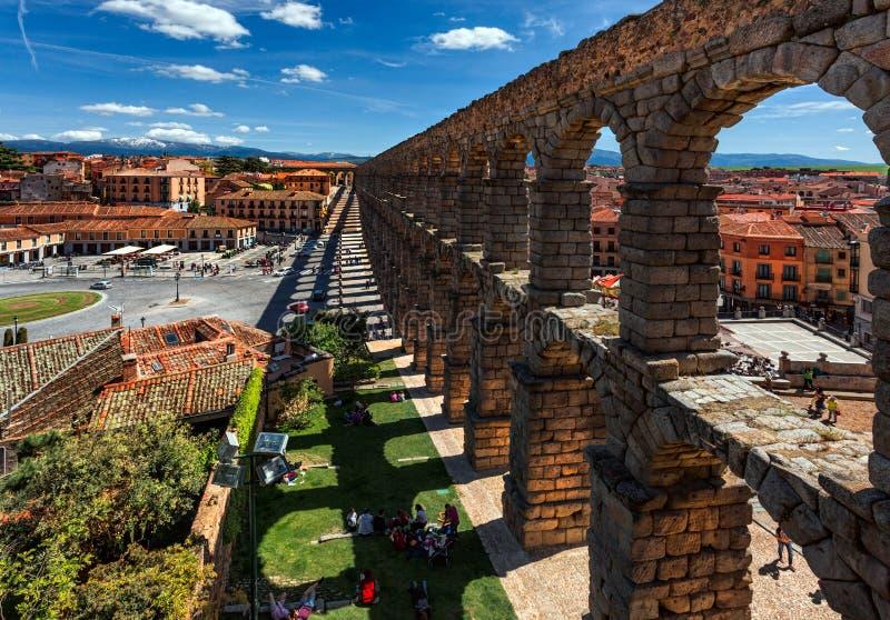 Взгляд древнего города Сеговии стоковые фотографии rf