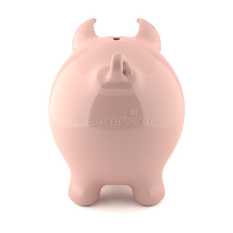 взгляд заднего банка piggy розовый иллюстрация вектора
