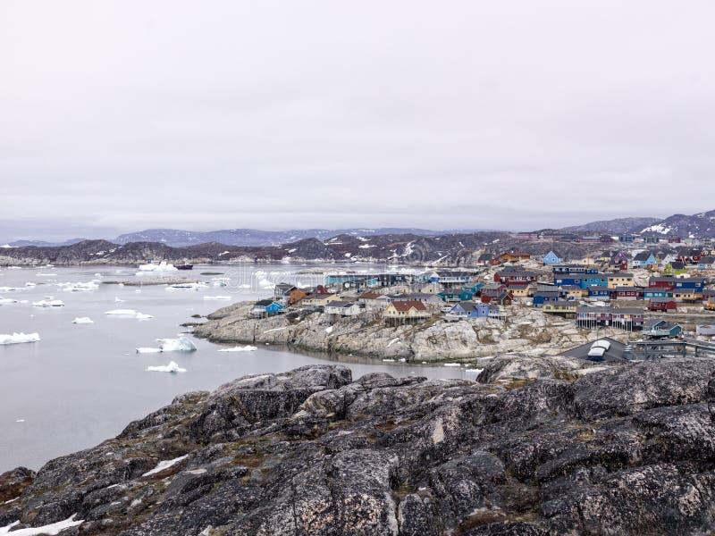 Взгляд залива диско Iluissat в Гренландии стоковое фото