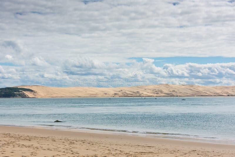 Взгляд залива Arcachon, Аквитания, Франция стоковое фото