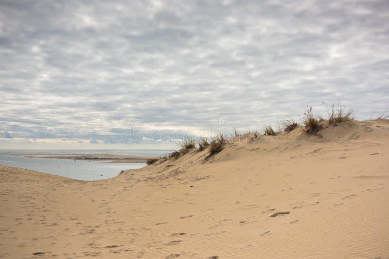 Взгляд залива Arcachon и Duna Pyla, Франции стоковые изображения rf