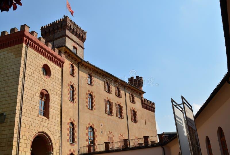 Взгляд замка Barolo, дома музея вина стоковое фото