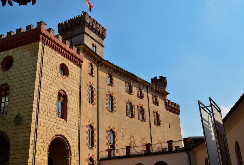 Взгляд замка Barolo, дома музея вина стоковое фото rf