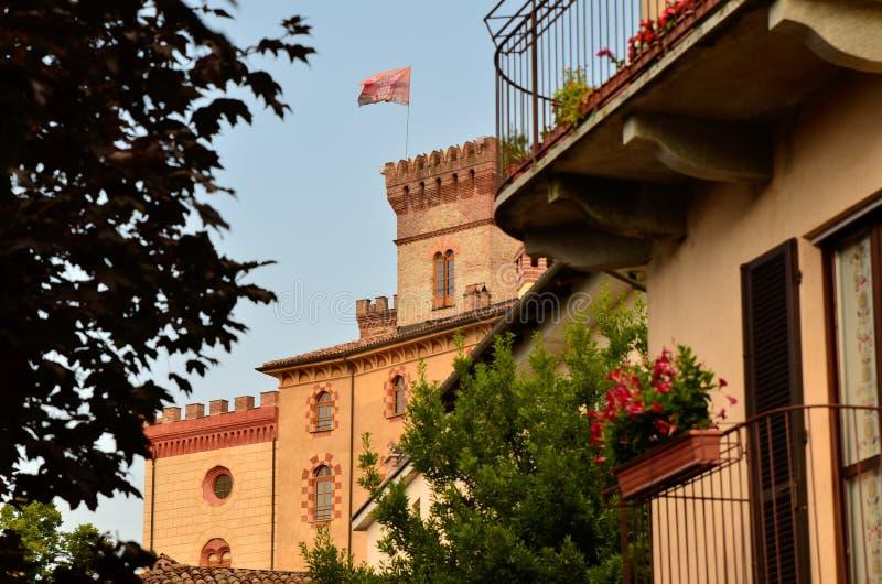Взгляд замка Barolo, дома музея вина стоковые изображения