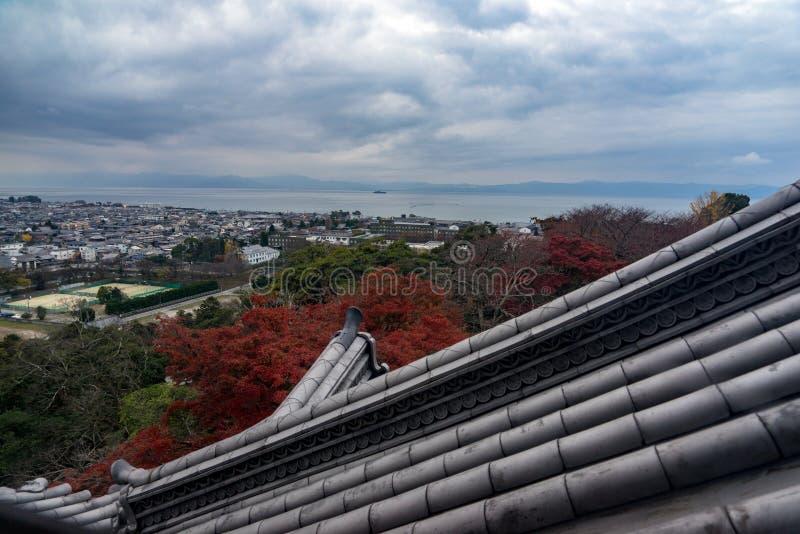 Взгляд замка Hikone стоковые изображения rf