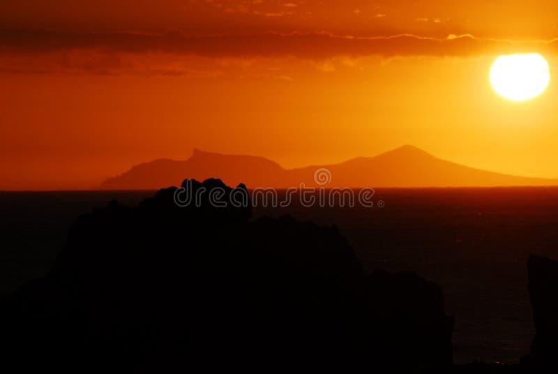 Взгляд захода солнца Африки красивый горы таблицы в Кейптауне стоковые фотографии rf