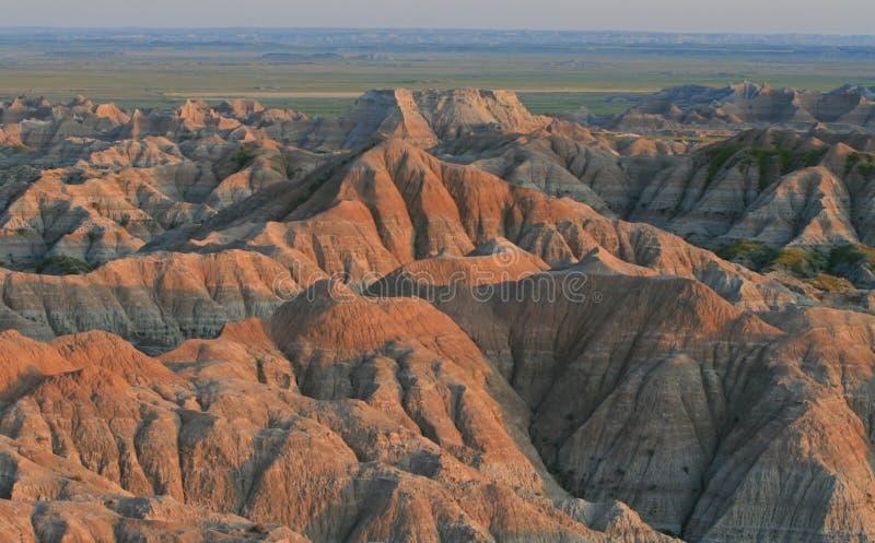 взгляд захода солнца неплодородных почв стоковое изображение rf