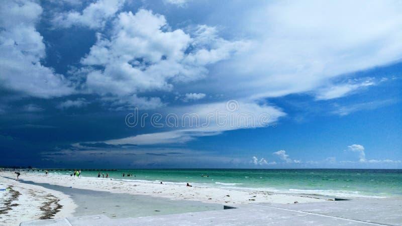 Взгляд захода солнца Флориды юго-западный, пляжи стоковое изображение rf