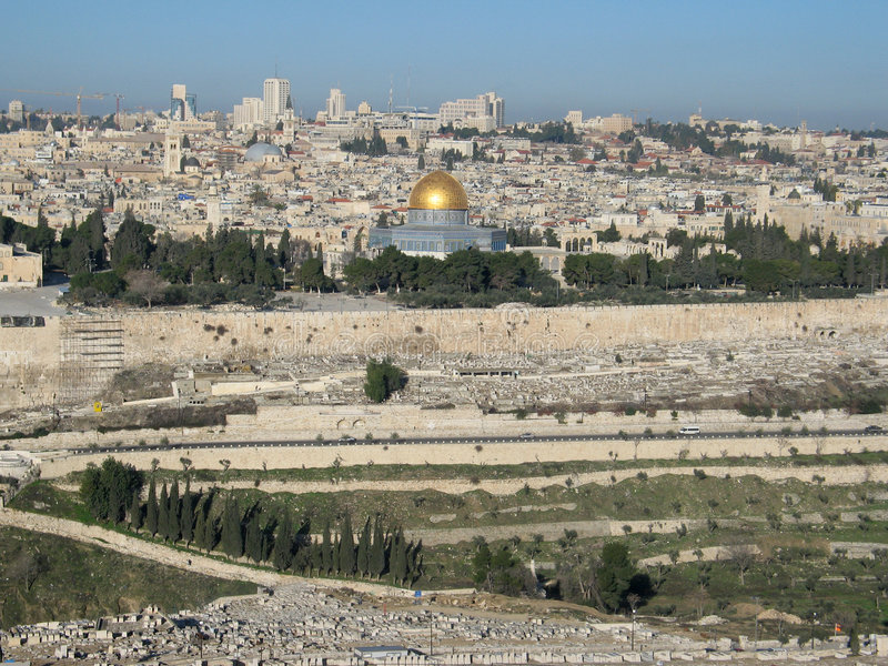 взгляд Иерусалима стоковые фото